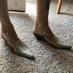 Donald Pliner 'Jessi' Genuine Python Mules